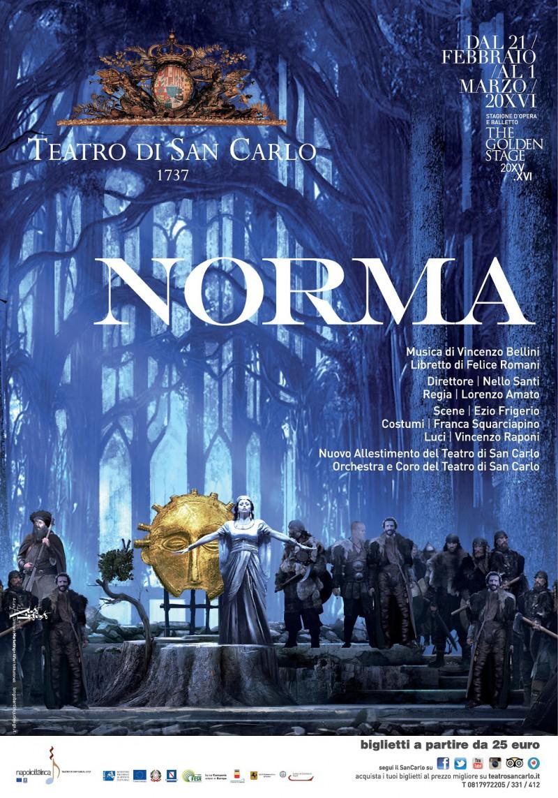 Napoli, Teatro San Carlo, Grande Attesa per Norma di Vincenzo Bellini, 21 febbraio – 1 marzo 2016