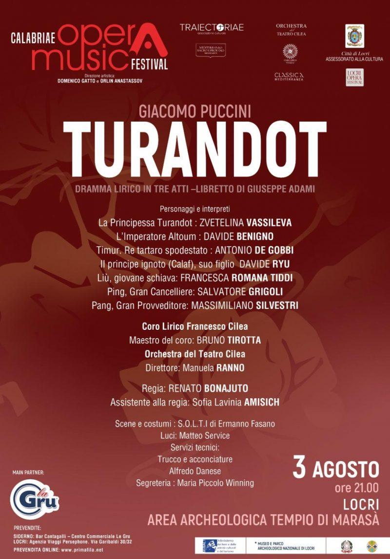 """I solisti di """"Turandot"""" di Locri"""
