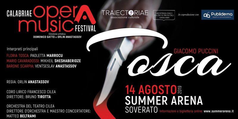 """""""Tosca"""" al Summer Arena di Soverato – 14 agosto 2019 ore 21"""